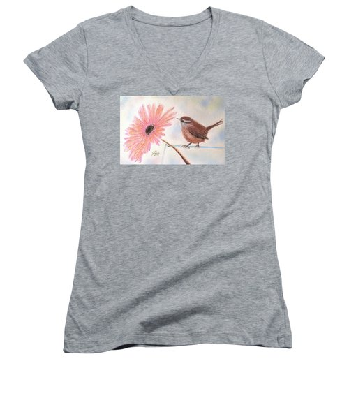 Stopping By To Say Hello Women's V-Neck