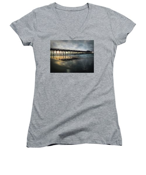 Storm At Sunrise In Color Women's V-Neck T-Shirt