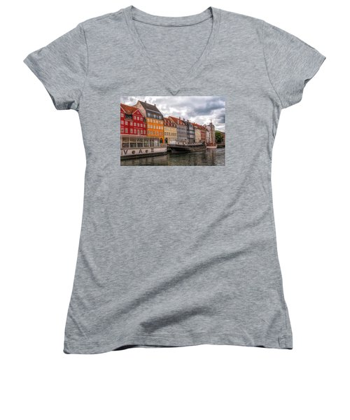 Storm Clouds Over Nyhavn Women's V-Neck