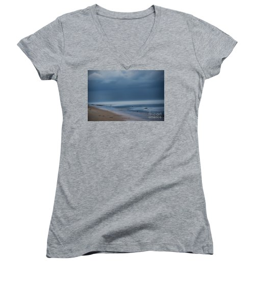 Storm Coming Women's V-Neck (Athletic Fit)