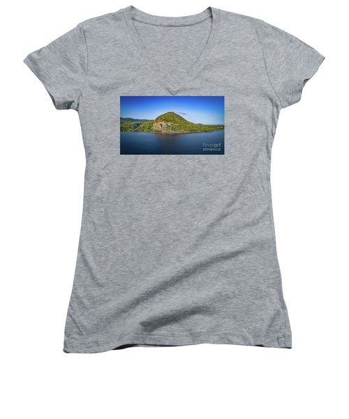 Storm King Mountain From Breakneck Ridge Women's V-Neck (Athletic Fit)