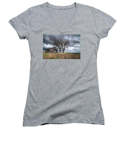 Storm Sky Barn Women's V-Neck T-Shirt