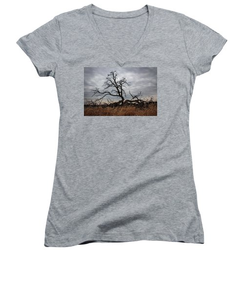 Storms Make Trees Take Deeper Roots  Women's V-Neck