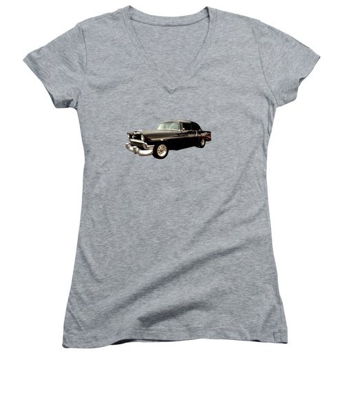 Stormy Chevy At Roys On Route 66 Women's V-Neck