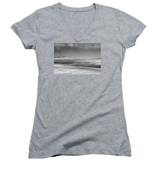 Stormy Oceanside Oregon Women's V-Neck T-Shirt