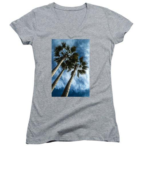 Stormy Palms 1 Women's V-Neck T-Shirt