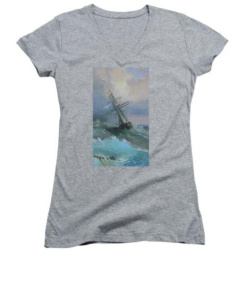 Stormy Sails Women's V-Neck