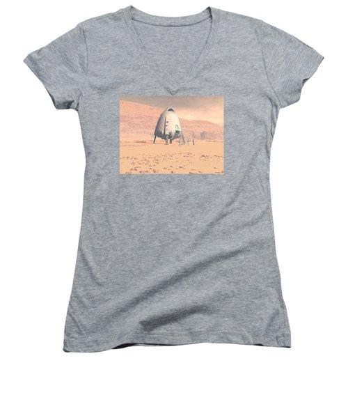 Stormy Skies Women's V-Neck T-Shirt (Junior Cut) by David Robinson
