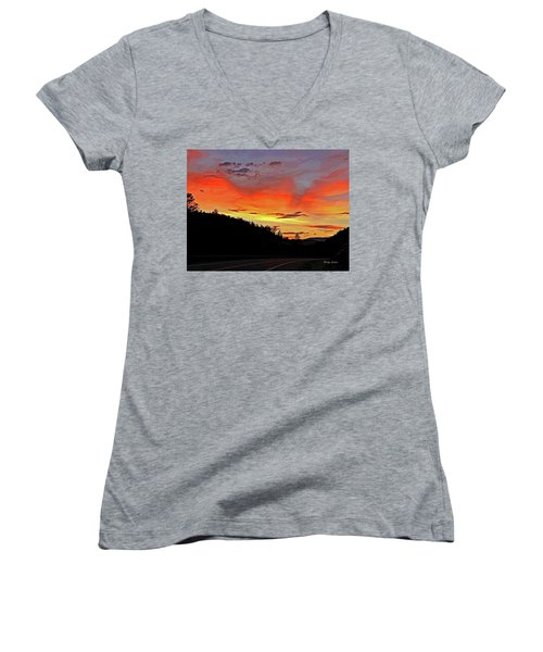 Stormy Sunset Women's V-Neck