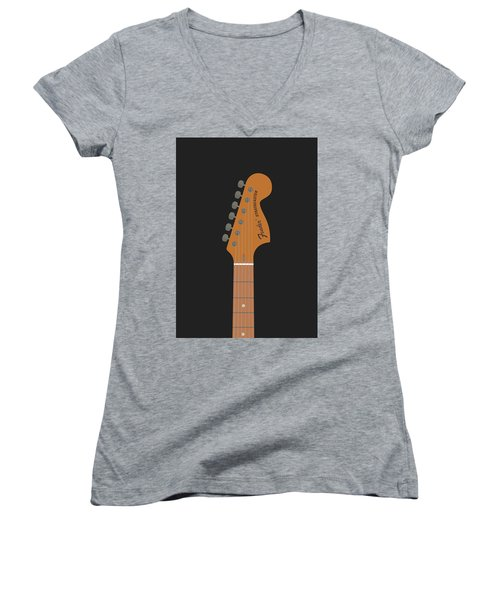 Stratocaster Guitar Women's V-Neck T-Shirt
