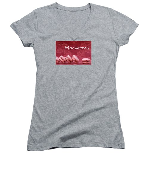 Strawberry Macaroons Women's V-Neck