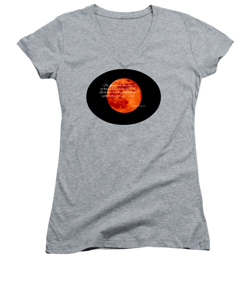 Strawberry Moon Women's V-Neck (Athletic Fit)