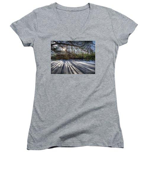 Streaming Women's V-Neck T-Shirt (Junior Cut) by Betsy Zimmerli