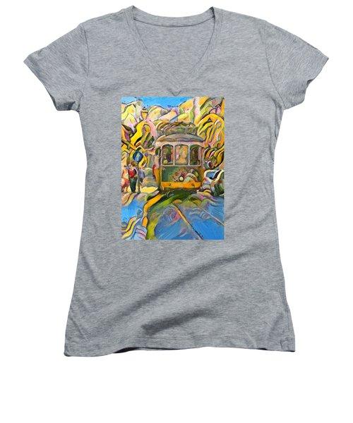 Street Car Lisbon Women's V-Neck T-Shirt