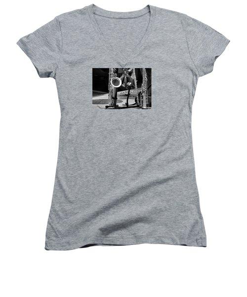 Street Music Women's V-Neck T-Shirt (Junior Cut) by John S