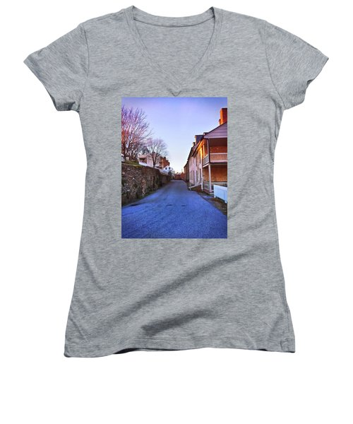Streets Of Harpers Ferry Women's V-Neck T-Shirt