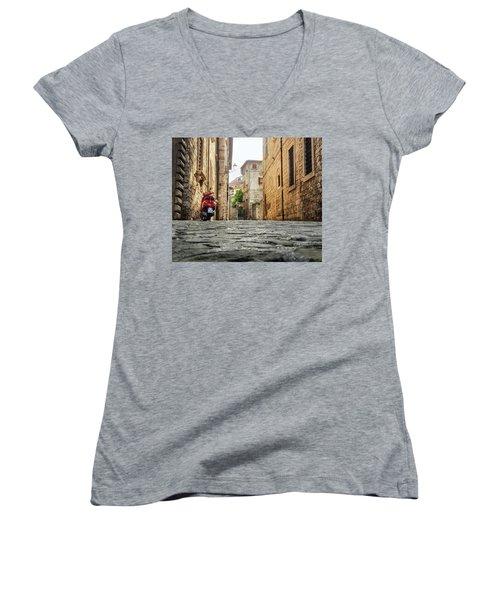 Streets Of Italy Women's V-Neck