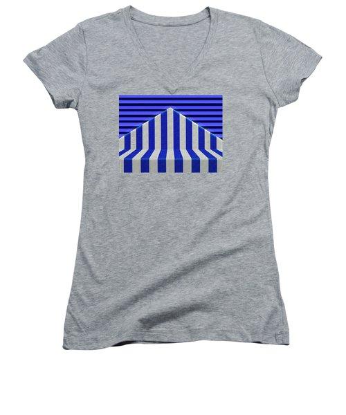 Stripes Women's V-Neck (Athletic Fit)
