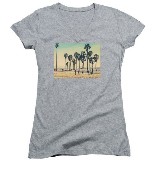 Stroll Down Venice Beach Women's V-Neck (Athletic Fit)