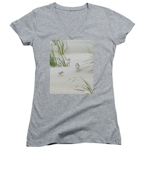 Struggle In The Blowing Sand Women's V-Neck