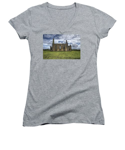 Stthomas Church In Aran Islands, Inis Mor Women's V-Neck
