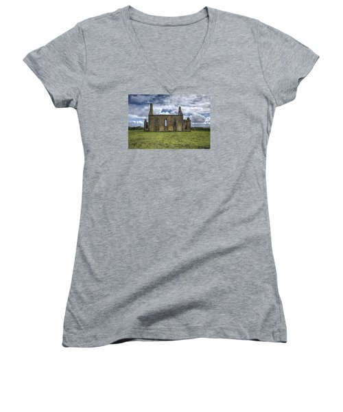 Stthomas Church In Aran Islands, Inis Mor Women's V-Neck (Athletic Fit)
