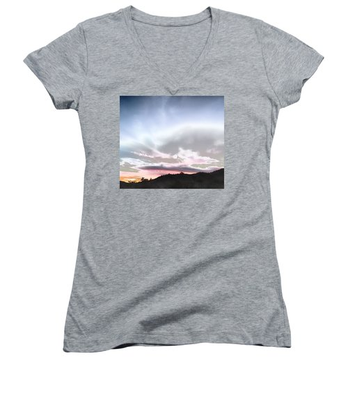 Submarine In The Sky Women's V-Neck