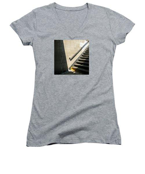 Subway Stairs Women's V-Neck T-Shirt