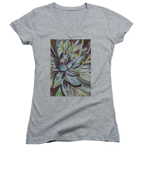 Succulent Women's V-Neck T-Shirt