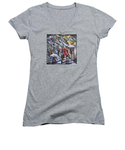 Sudden Rain II Women's V-Neck T-Shirt