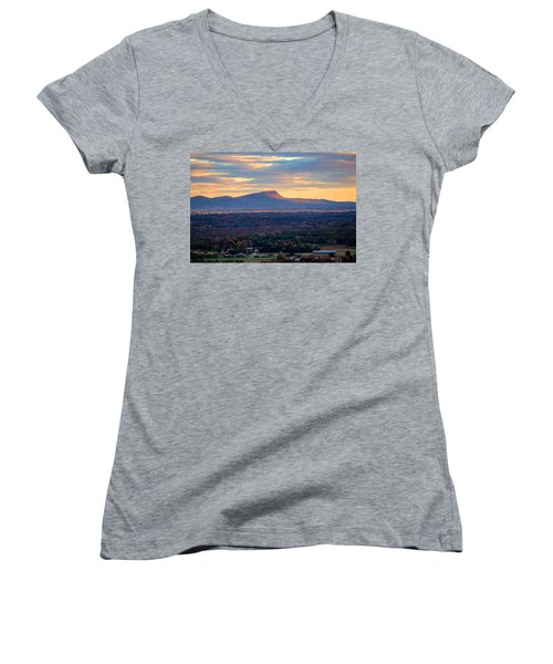 Sugarloaf View, South Deerfield, Ma Women's V-Neck