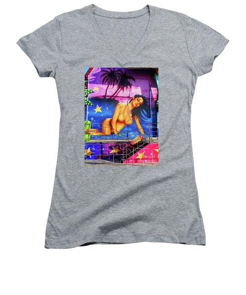 Suggestive Invitation Women's V-Neck T-Shirt (Junior Cut) by Don Pedro De Gracia