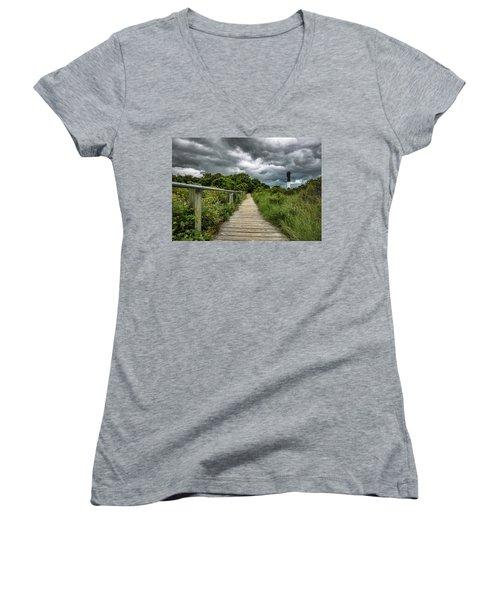 Sullivan's Island Summer Storm Clouds Women's V-Neck T-Shirt