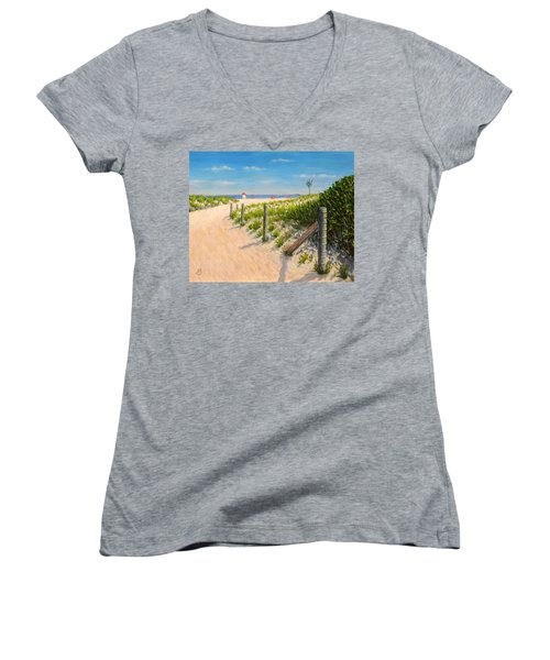Summer 12-28-13 Women's V-Neck T-Shirt (Junior Cut) by Joe Bergholm