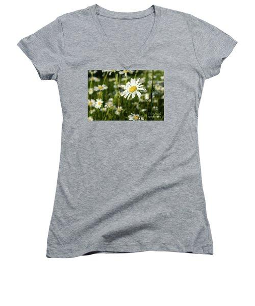Women's V-Neck T-Shirt featuring the photograph Summer Beauty by Kennerth and Birgitta Kullman