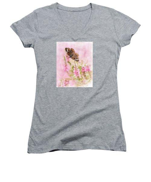 Summer Daze Women's V-Neck T-Shirt (Junior Cut) by Betty LaRue