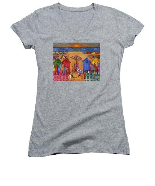 Summer Delight Women's V-Neck T-Shirt