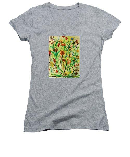 Summer Ends Women's V-Neck T-Shirt