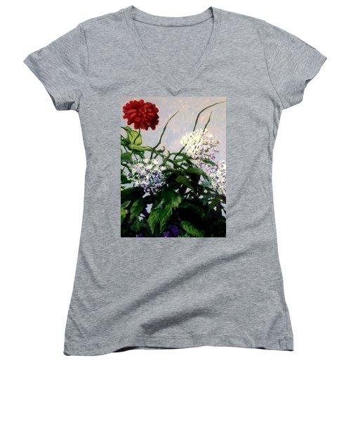 Summer Flowers 1 Women's V-Neck