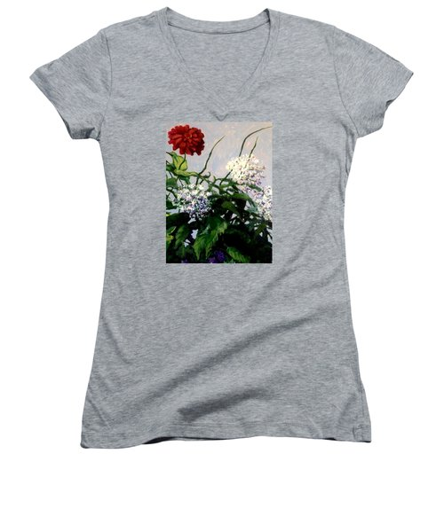 Summer Flowers 1 Women's V-Neck