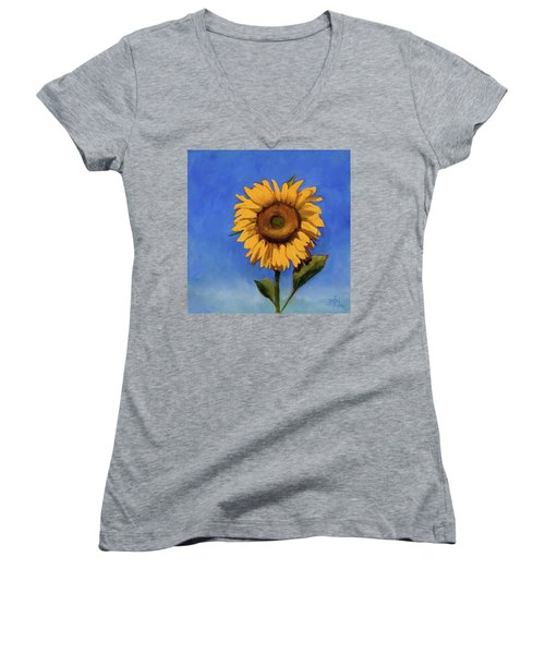 Women's V-Neck T-Shirt (Junior Cut) featuring the painting Summer Fun by Billie Colson