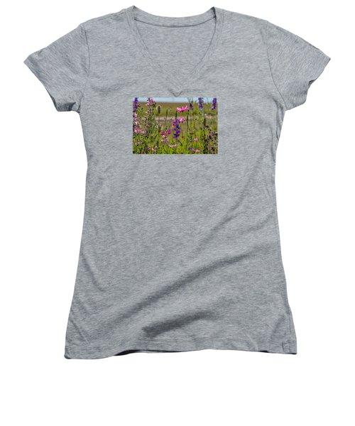 Summer Garden Women's V-Neck (Athletic Fit)