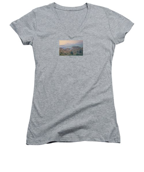 Summer In The Badlands Women's V-Neck