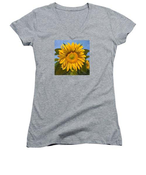 Summer Joy Women's V-Neck T-Shirt (Junior Cut) by Billie Colson