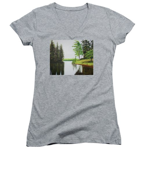 Summer Lake Women's V-Neck T-Shirt