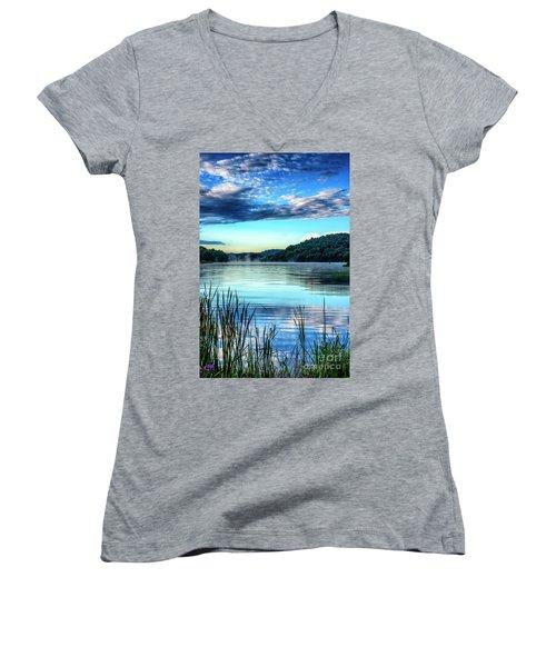 Summer Morning On The Lake Women's V-Neck