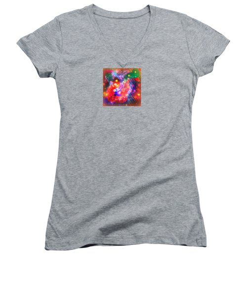 Summer Morning Women's V-Neck T-Shirt (Junior Cut) by Robin Regan
