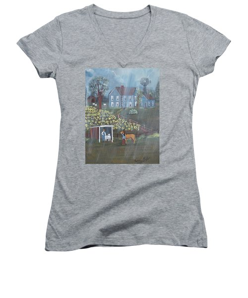Summer Rain Women's V-Neck (Athletic Fit)