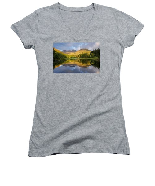 Summer Reflections At The Torren Lochan Women's V-Neck (Athletic Fit)