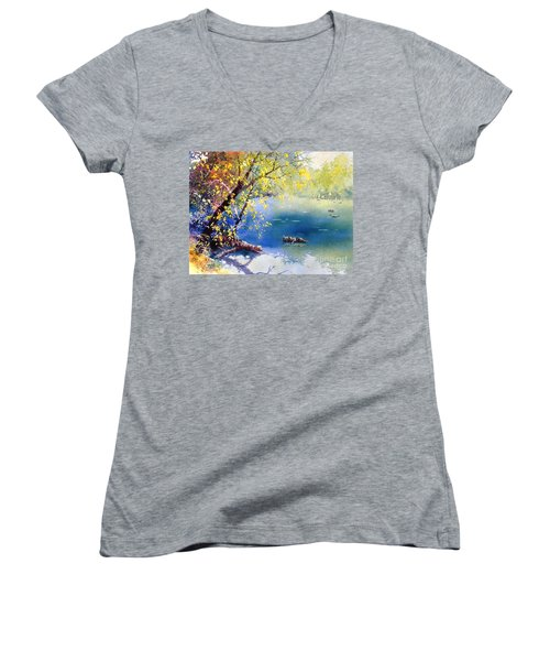 Summer River Women's V-Neck (Athletic Fit)
